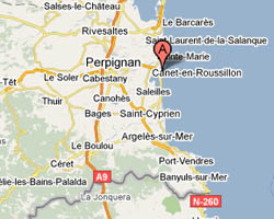 image map Canet-Plage