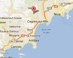 Pics Photos  Saint Paul De Vence France Map